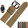 High Quality Genuine Leather Watch Band Strap Watchbands + Lugs Adapters For Garmin Fenix 3 / HR  #ET681