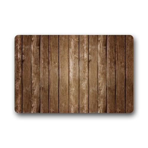 Vintage Vertical Stripes Wood Pattern Print Stain Resistant Color Doormats Floor Mat Door Rug Indoor Outdoor Mats