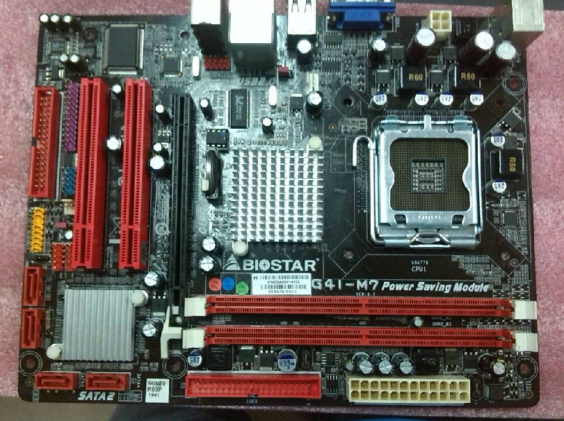 G41 motherboard  Free shipping for Biostar G41-M7 DDR2 fully integratedsupports Core 2 Duo Quad-Core planetesimal g31m3 775 ddr2 4gb usb2 0 vga fully integrated g31 motherboard cd dual core core duo 100% tested perfect quality