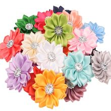 20PCS artificial flower bouquets Rhinestone Flower DIY Flowers Home decoration hair accessories for Headband No Clips No Bows(China)