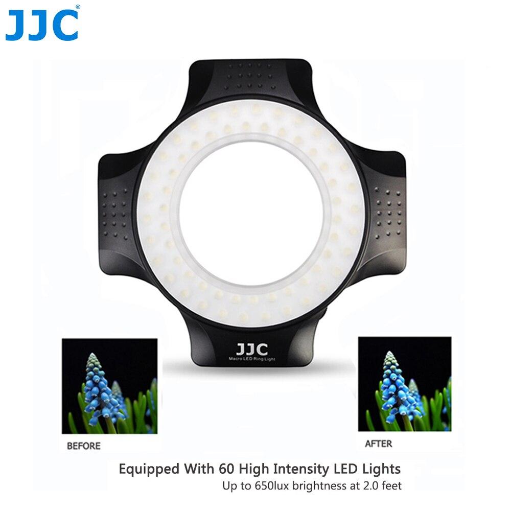 JJC Photo/Studio DSLR vidéo Flash caméra Speedlite lampes anneau lumière Macro LED pour Nikon/Canon/Sony/Pentax/Samsung/Olympus/Fuji