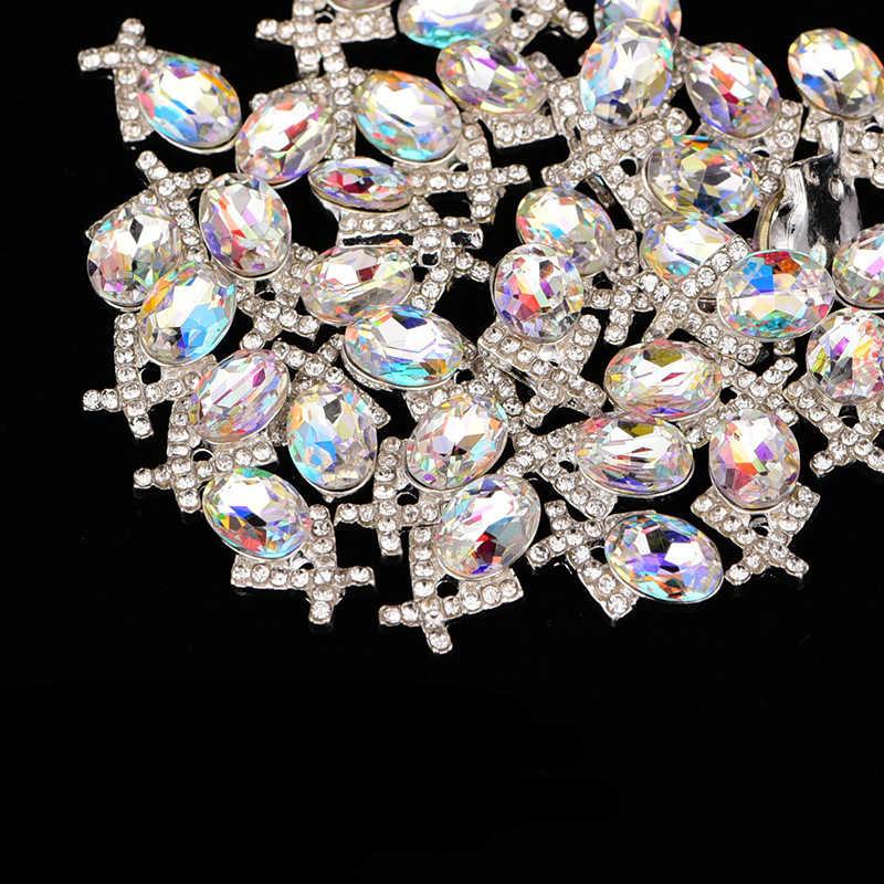 לעמוד על פני 3D AB קריסטל ריינסטון סגלגל משולש יהלומי נצנצים סגסוגת אמנות קישוטי ציפורניים יופי אספקת תכשיטים