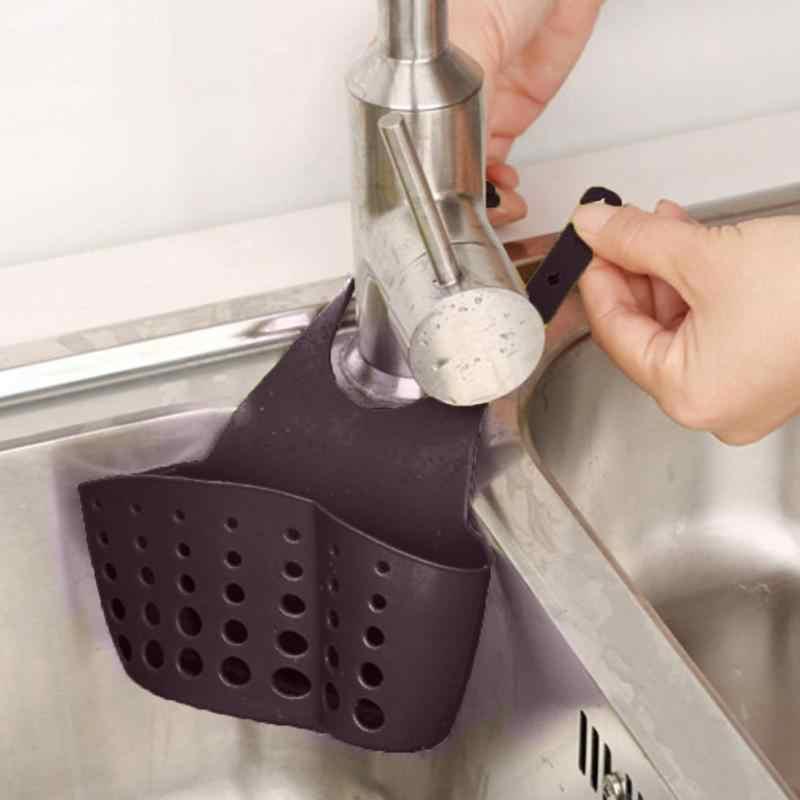 Esponja de Cozinha criativa Colher Ralo Da Pia Cesta de Sabão de Banho Pendurado Organizador Caixa Titular Conveniente Multi-buraco Projeto de Ventilação