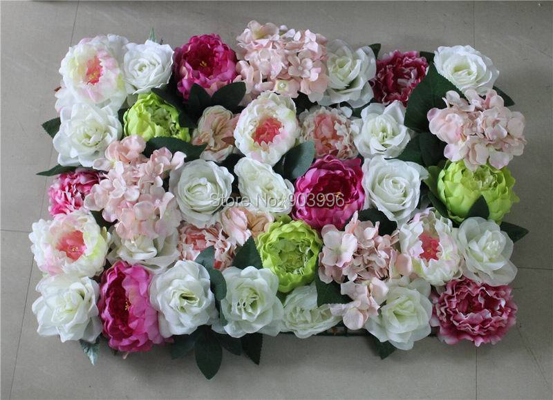 2017 new high quality 10pcslot wedding flower wall arch flore backdrop decorative wholesale artificial