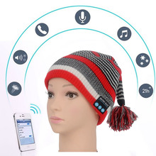 Bluetooth Music Hat Soft Warm Beanie Caps with Stereo Headphone Headset Speaker Wireless Microphone MZ022 For Android Smartphone