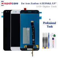 Con marco para Asus ZE554KL montaje de pantalla táctil LCD para ASUS Zenfone 4 ZE554KL LCD con pantalla táctil Z01KD reemplazo