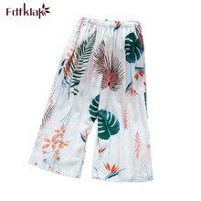 Fdfklak Fashion calf-length pant loose spring summer pajamas pant women sleepwea