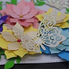 AZSG Four Butterfly Metal Cutting Mold DIY Scrapbook Album Decoration Supplies Clear Stamp Paper Card