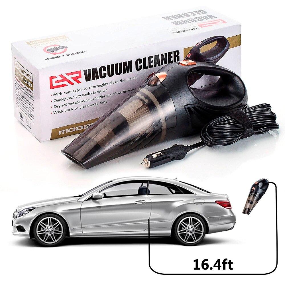 Купить с кэшбэком 4800pa Car Vacuum Cleaner DC 12 Volt 120W with Handbag 4.8 KPA Cyclonic Wet / Dry Auto Portable Vacuums Cleaner Dust