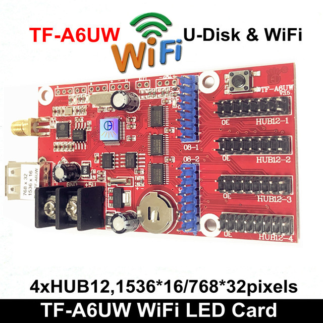TF-A6UW Control Card Wireless Wifi Controller Supports LED Modules Such As LED DIY Advertising Board P5 P7.62 P10