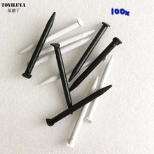 100Pcs/ LOT Black White Plastic Touch Stylus Pen For New 2DS XL Game Console For New 2DS LL Game Console Video Gaming