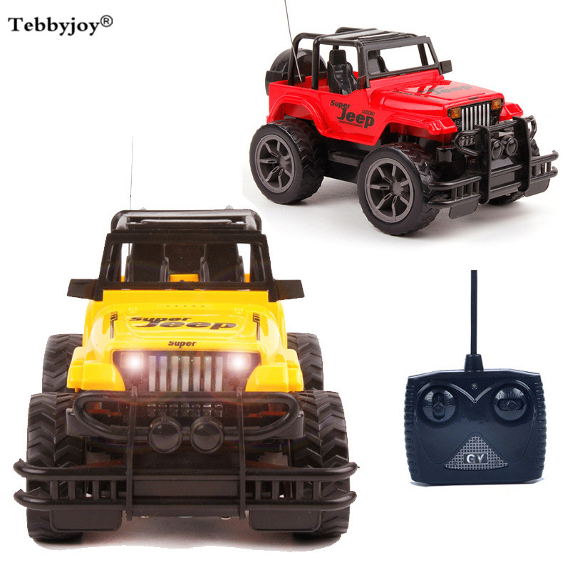 Super rc car Toys 1:24 Jeep large remote control cars 4CH remote control cars toys with light electric for kids gift tebbyjoy radio-controlled car