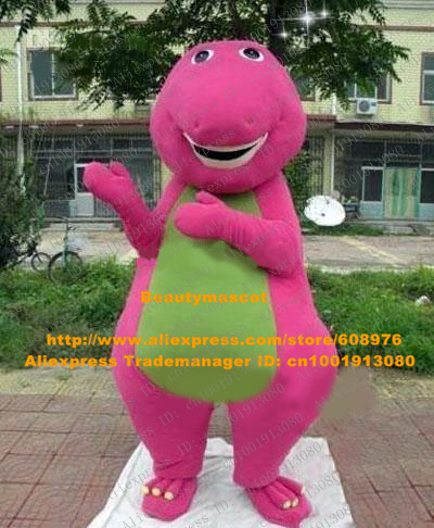 Lively Pink Dino Phytodinosauria Barney Dragon Dinosaur Adult Mascot Costume Mascotte With Small Short Arms No 324 Free Ship