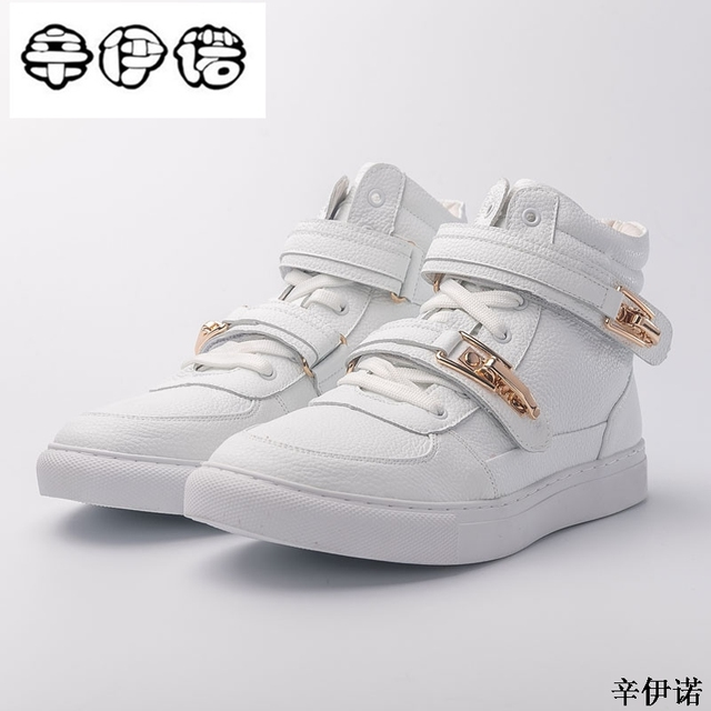 232a0f3206 Nueva Marca diseñador Hip Hop Hombre Zapatos Casual hombres zapatos Tenis  Sapato Masculino Heren Schoenen alto