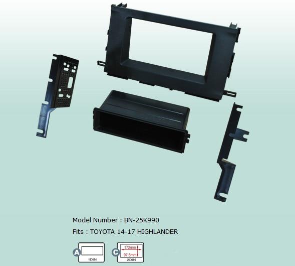 Ahhdmcl Car Fascias Stereo Radio Audio Panel Navigation Frame Dash Kit For Toyota Highlander