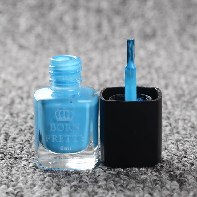 6ml Blue Born Pretty Liquid Tape & Peel Off Base Coat Nail Polish Nail Art Liquid Palisade Nail Art Latex CAN NOT USED IN COLD