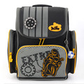 Delune Новый детская школа сумка для мальчиков 3D печать автомобилей рюкзак ребенка Оригинальный известный бренд мешок