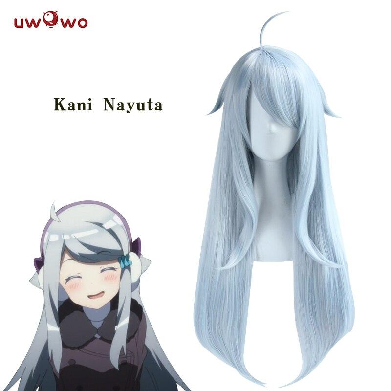 UWOWO Кани Nayuta парик сестра все, что вам нужно серый синий 80 см/31,5 inch длинные волосы тепла устойчив парик Для женщин волос