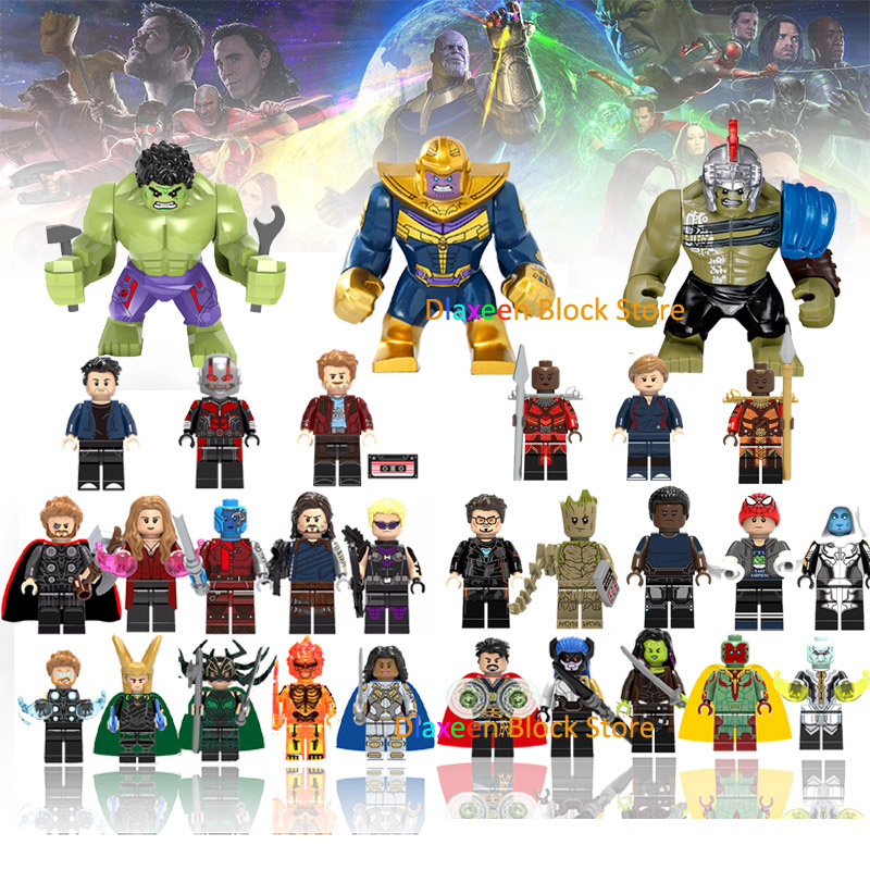Super Heroes Building Blocks Action Figures Bricks Compatible with Legoed Avengers Iron man Hulk Thanos Toys for Children Gifts babyliss pro фен профессиональный luminoso фиолетовый bab6350ipe