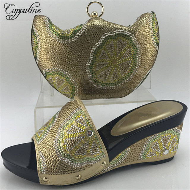 Capputine Italian New Design Ladies Shoes And Matching Bags Set African  Pumps Shoes And Bag Set For Party Size 38-42 ME7708 8b10f91c22ac