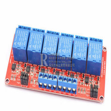six way 5V 12V 24V relay module with optocoupler isolation to support high and low level trigger development board 1pcs 3 3v 1 channel 3v relay module optocoupler isolation low level trigger relay module