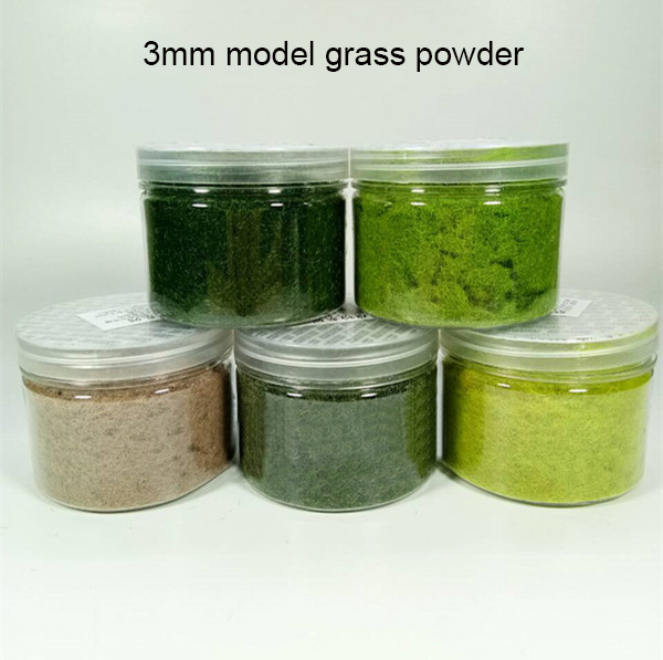 Scenario Model Grass Powder Model  Simulated Vegetation Train Sand Table  DIY Handmade Materials Outdoor Lawn 3mm Scale Toy
