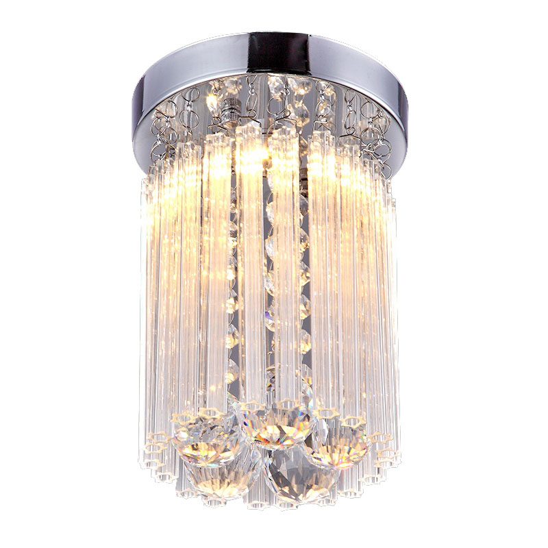 Three simple and modern LED circular creative warm small crystal lamp bedroom study entrance corridor home ceiling lamp lightingThree simple and modern LED circular creative warm small crystal lamp bedroom study entrance corridor home ceiling lamp lighting