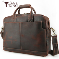 16 Briefcase Laptop Business Cow Leather Handbag Bag Man 2018 Travel Large Capacity File Shoulder Weekend Crossbody Brand Bags