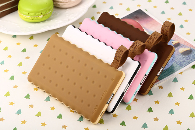 New Power Bank 12000mah Dual USB Portable Biscuit Case External Battery Charger Powerbank For iphone7 7plus smasungs5 s6