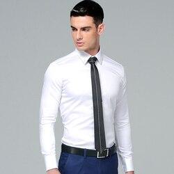 High Quality 100% Cotton 2018 Korean Stylish Men's Dress Shirt Long Sleeves Solid Color Regular Fit Casual Men Business Shirt
