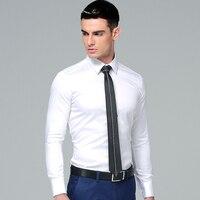 High Quality 100 Cotton 2016 Korean Stylish Men S Dress Shirt Long Sleeves Solid Color Slim