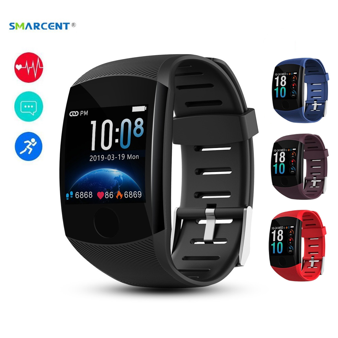 NEW Q11 Smart Watch Touch Screen IP67 Waterproof Fitness Bracelet <font><b>OLED</b></font> Message Heart Rate Smartband Activity Tracker sport watch image