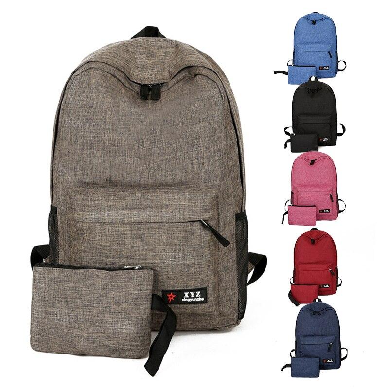 все цены на New High Capacity Waterproof Nylon Backpack Women Schoolbag Backpack Ladies Knapsack Laptop Travel Bags for School Teenage Boys онлайн