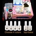 BURANO Nail Art UV Gel Kits Tool UV lamp Brush Remover nail tips glue acrylic uv gel polish manicure set #005set
