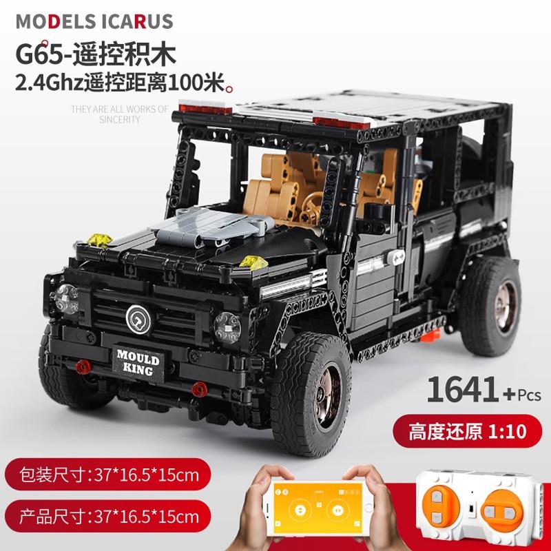 APP LED Technic 13070 Technic SUV G65 AWD Wagon RC Motors Car Sets Building Blocks Bricks Educational Toys Programming Toys