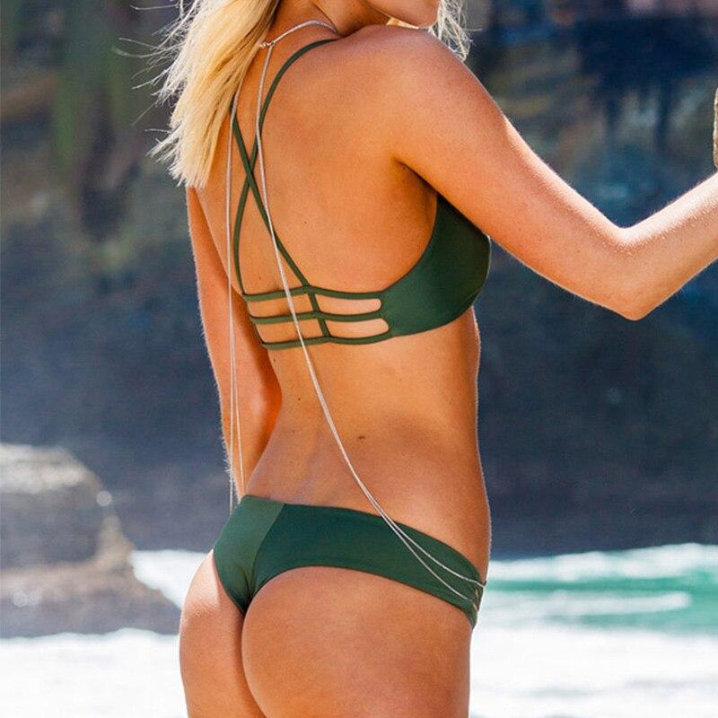 NAKIAEOI Sexy Brazilian Bikini Swimwear Swimsuit Bathing Suit Women Biquini 2017 Push Up Bikini Set Femme Beach Wear Swim Suit 2