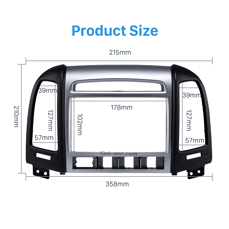 Seicane Oem Double Din Car Radio Fascia For 2007 2012 Hyundai Rhaliexpress: Hyundai Santa Fe Radio Bezel At Gmaili.net