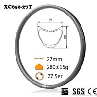 Hot Sale 29er Super Lite MTB Carbon Rims Tubular 28 28H 3K Matt 350g Pcs Free