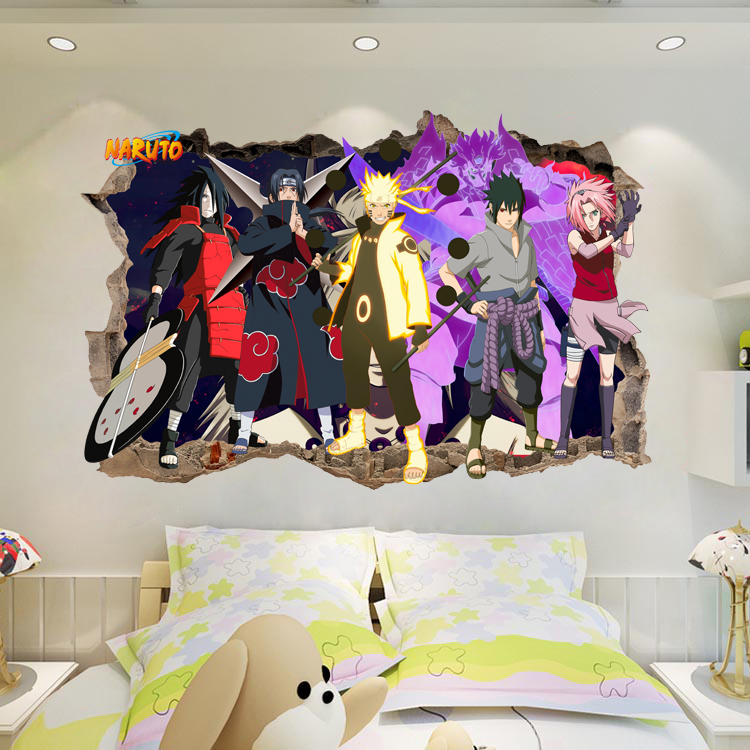 Kids Diy Gift Naruto Amine Comic 3d Kids Bedroom Wall Stickers Decor Vinyl Decal Poster Mural B733 Super Offer Bf9d1d Cicig