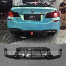 V стиль, настоящий автомобильный диффузор из углеродного волокна, задняя губка для BMW F10 M5, задний бампер, спойлер, фартук для автомобиля, стильный светодиодный светильник
