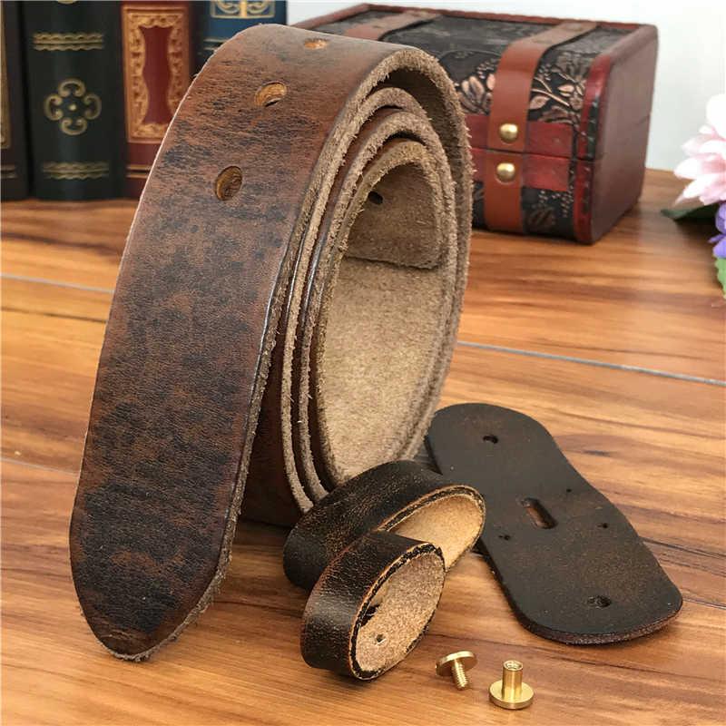 De calidad superior de cuero cinturones sin hebillas de correa de los hombres  Ceinture Homme hombre f0cb03368a78