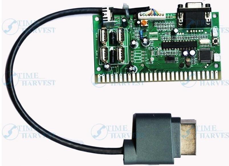 ФОТО 1 Pcs of X-360 arcade VGA timer board/change the X-360 USB to Jamma/X-360 game to arcade game machine