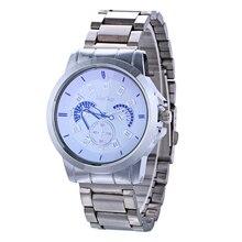 McyKcy Relógio De Vidro Azul de Luxo Homens de Negócios de Moda Relógio de Quartzo Relógio Masculino Esporte Relógios Horas Montre Homme Relogio masculino