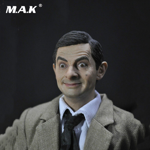 "1/6 Male Head Sculpt Figure Mr Bean Lifelike Headplay for 12"" Action Figure Collection Toys"