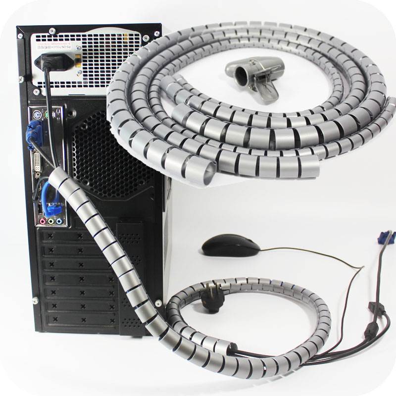 1.5m/4.9ft 22mm 16mm Cable Management Sleeve Cord Organizing Tube ...