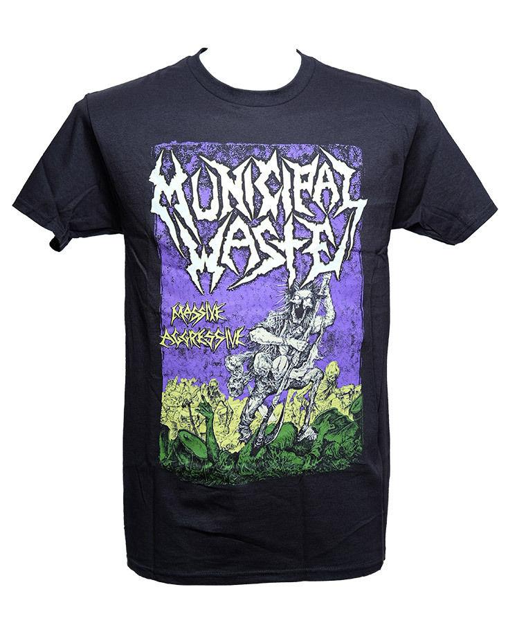 MUNICIPAL WASTE - MASSIVE AGGRESSIVE - Official Licensed T-Shirt - New M L XL Loose Black Men T shirts Homme Tees