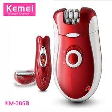 Kemei 3068 Epilator Women Rechargeable Shave Wool Device Electric Epilator 2 In 1 Shaving Pedicure Leg Armpit Female Care Body