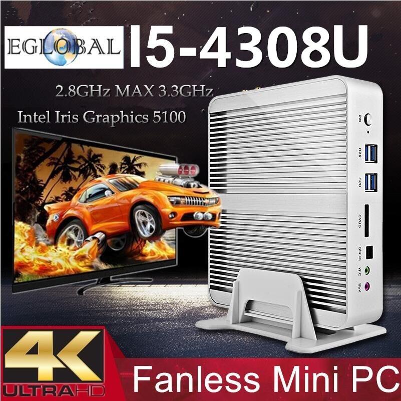 Intel Computadore Core I5Broadwell Fanless Mini PC Windows 7/8/10 Barebone Nettop 4K HDMI HTPC Intel Iris 5100 Graphics300M WiFi