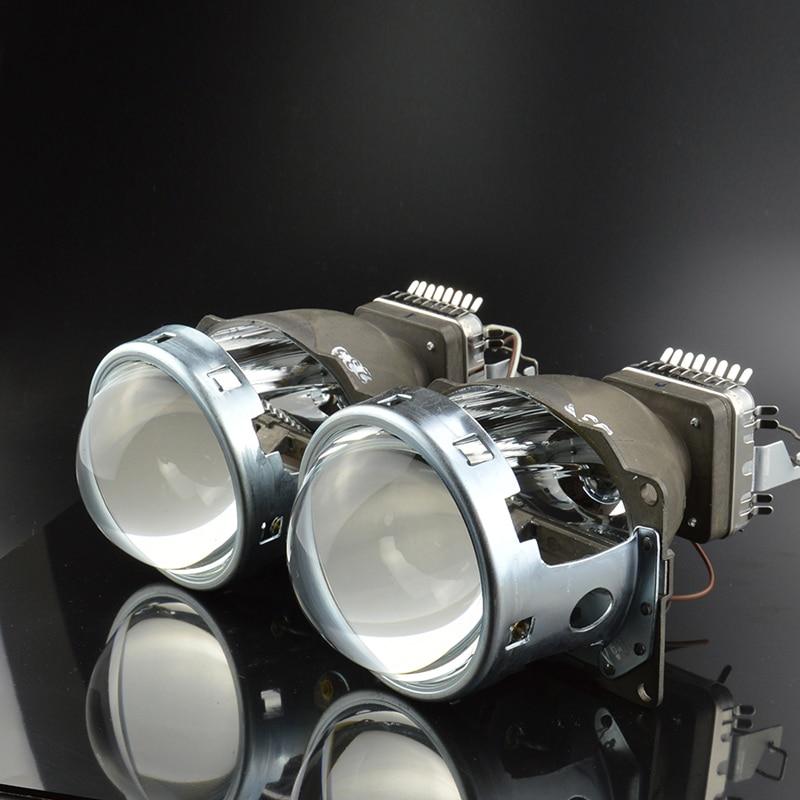 все цены на GZTOPHID Car Light Retrofit 3.0 inch Original Q5 Projector Lens Bifocal, HID Bixenon Headlight model for D1S,D2S,D3S,D4S онлайн