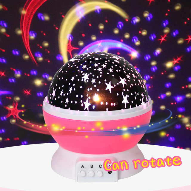 Novelty Luminous Toys Romantic Starry Sky LED Night Light Projector Battery USB Night Light Creative Birthday Toys For Children 1